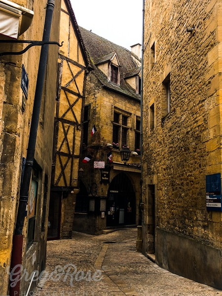 Street in Cerennac South West France