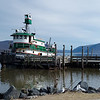 Tug tied up on the Newburgh waterfront