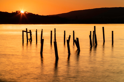 Sunset over the Old Salen Pier.