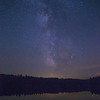 Milky Way over Norway Lake, Algonquin Provincial Park, Ontario