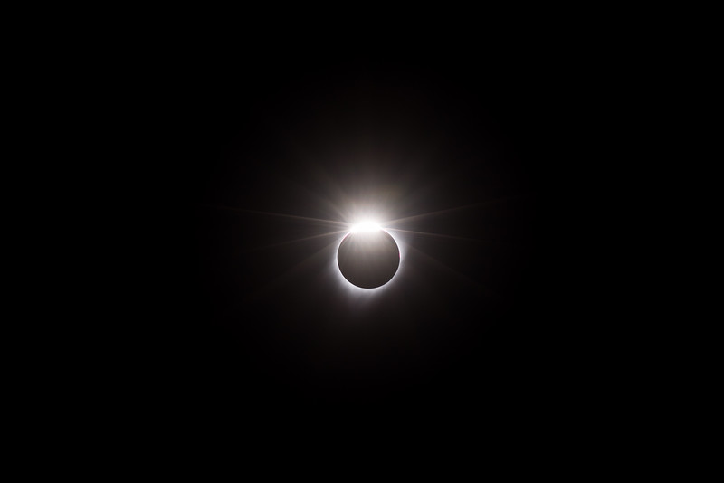 The last flash of totality.