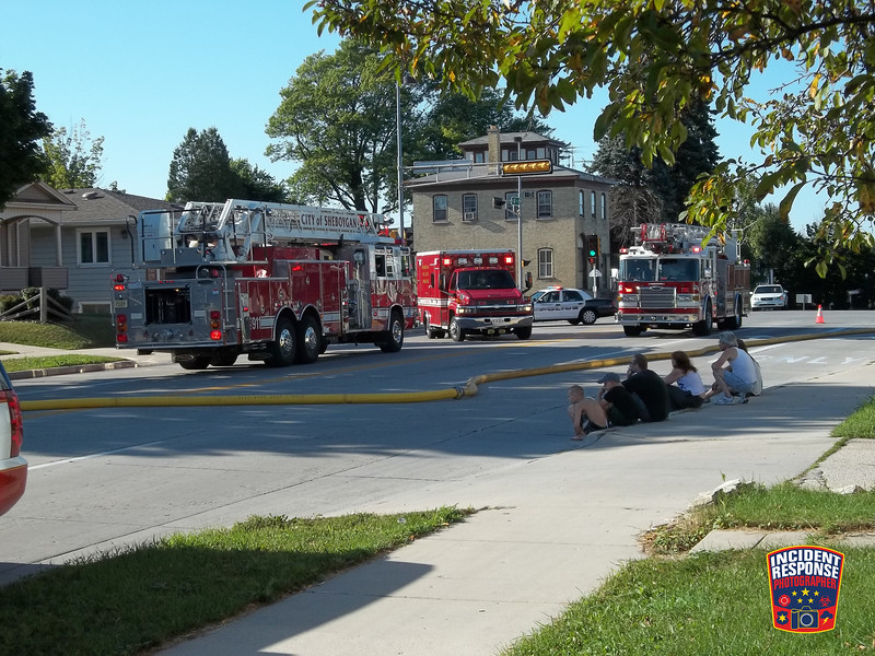 The Sheboygan Fire Department responded to a house fire in the 500 block of North 14th Street in Sheboygan, Wisconsin on Sunday, August 14, 2011. Photo by Asher Heimermann/Incident Response.