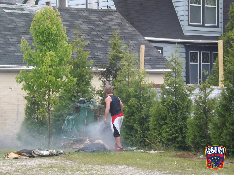 The Sheboygan Fire Department responded to a rubbish fire in the 1400 block of South 9th Street in Sheboygan, Wisconsin on May 25, 2012. Photo by Asher Heimermann/Incident Response.