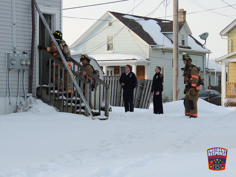 Firefighters responded to an apartment fire at 1520A John Court in Sheboygan, Wisconsin on Saturday, February 15, 2014. Photo by Asher Heimermann/Incident Response.