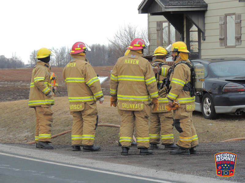 The Haven Fire Department responded to an electrical fire at N8097 County Road Y in the Town of Mosel, Wisconsin on Saturday, March 22, 2014. Photo by Asher Heimermann/Incident Response.