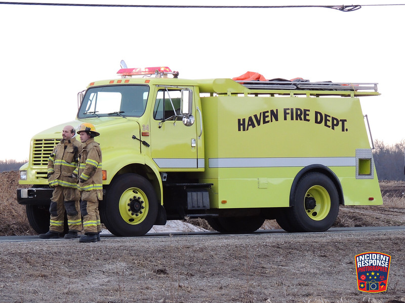 The Haven Fire Department responded to a fire at N8097 County Road Y in the Town of Mosel, Wisconsin on Saturday, March 22, 2014. Photo by Asher Heimermann/Incident Response.