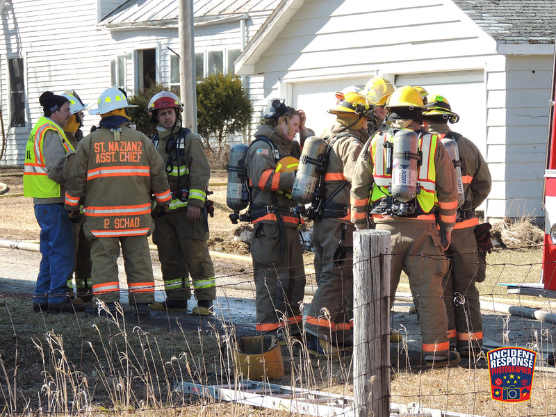 The Kiel Fire Department requested mutual-aid assistance from surrounding fire departments for a house fire at 14902 South Cedar Lake Road in Kiel, Wisconsin on Saturday, March 29, 2014. Photo by Asher Heimermann/Incident Response.