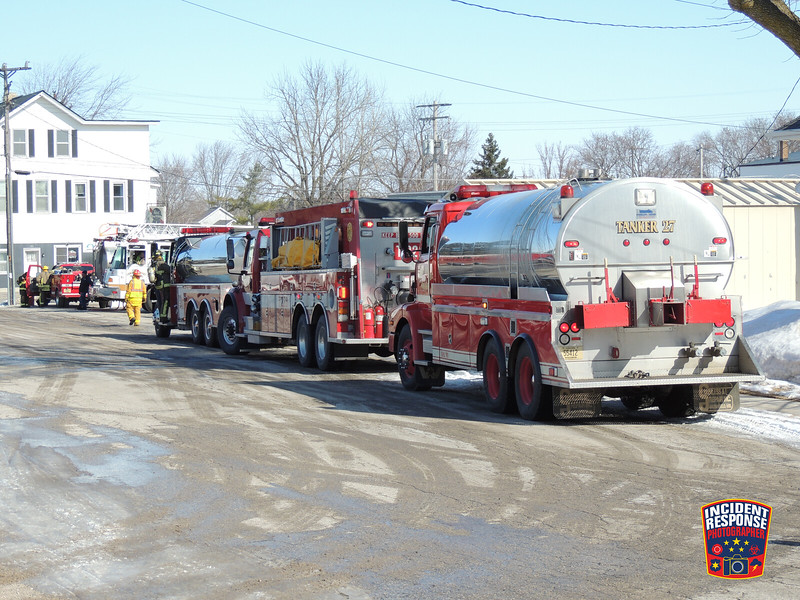 Firefighters from multiple counties responded to a 4-Alarm fire at St. Lawrence Seminary High School in Mount Calvary, Wisconsin on Saturday, March 8, 2014. Photo by Asher Heimermann/Incident Response.