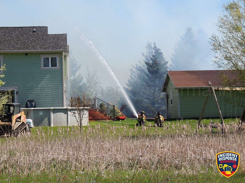 The Oostburg Fire Department responded to a barn fire at N2941 Highway 32 in Gibbsville, Wisconsin on Saturday, May 24, 2014. Photo by Asher Heimermann/Incident Response.