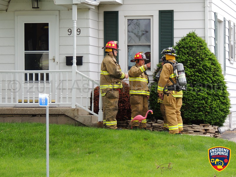 The Sheboygan Fire Department and Town of Sheboygan Fire Department responded to a possible attic fire in the 900 block of North 38th Street in the Town of Sheboygan, Wisconsin on Tuesday, June 17, 2014. Photo by Asher Heimermann/Incident Response.