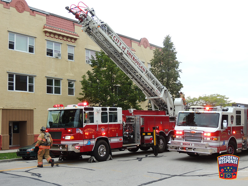 Firefighters responded to a structure fire at 929 North 8th Street in Sheboygan, Wisconsin on Sunday, September 27, 2015. Photo by Asher Heimermann/Incident Response.