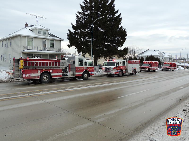 Firefighters responded to a report of an attic fire at 1209 North 14th Street in Sheboygan, Wisconsin on Friday, January 13, 2016. Photo by Asher Heimermann/Incident Response.
