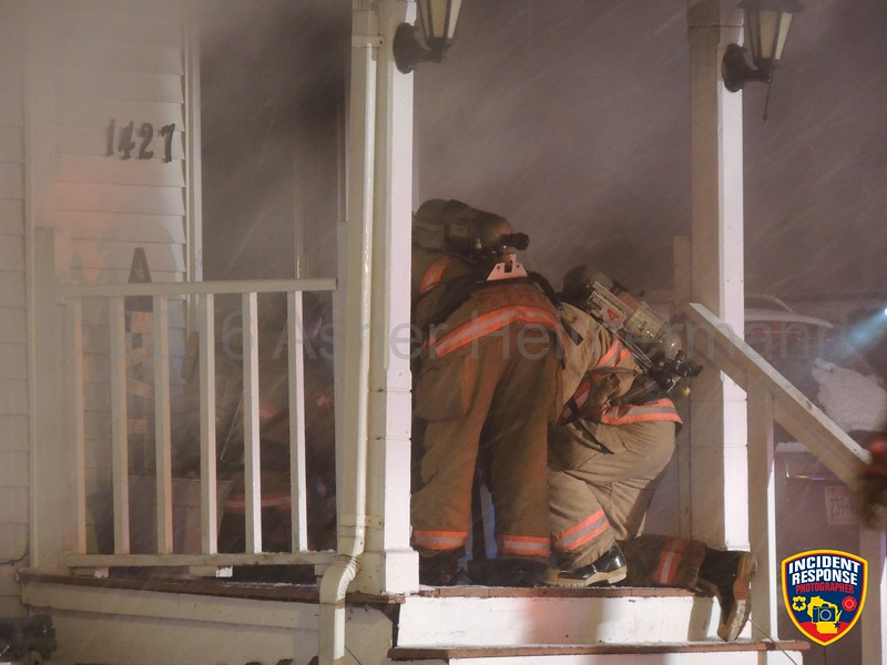 Firefighters responded to a residential structure fire at 1427 Indiana Avenue in Sheboygan, Wisconsin on Tuesday, January 26, 2016. Photo by Asher Heimermann/Incident Response.