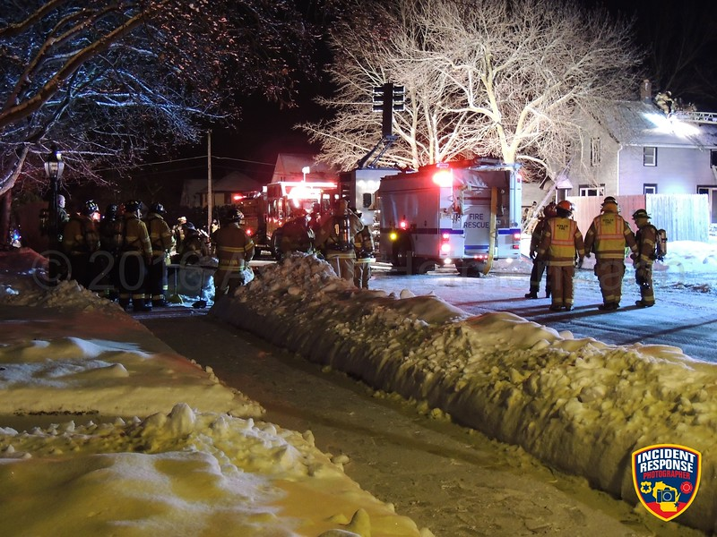 Three children were killed in a house fire at 507 Western Avenue in Sheboygan Falls, Wisconsin on Tuesday, January 26, 2016. Photo by Asher Heimermann/Incident Response.
