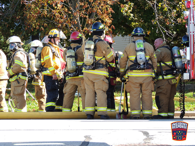 Firefighters from around Sheboygan County responded to a 3-alarm house fire at 3225 County Road Y in the Town of Sheboygan, Wisconsin on Monday, October 24, 2016. Photo by Asher Heimermann/Incident Response.