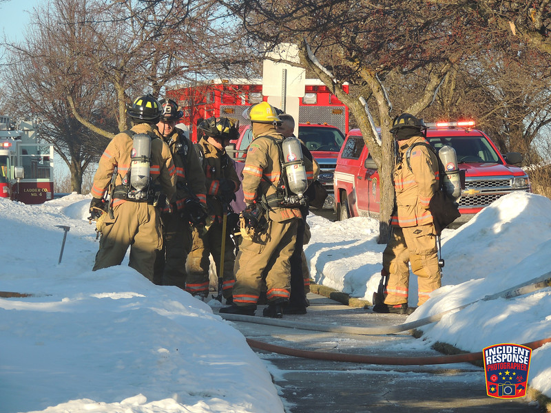 The Sheboygan Fire Department responded to a house fire at 1743 Camelot Blvd in Sheboygan, Wisconsin on Thursday, December 22, 2016. Photo by Asher Heimermann/Incident Response.