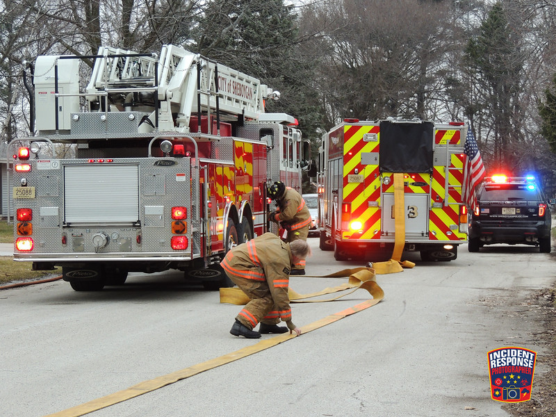 Firefighters responded to an intentionally set fire at an assisted living facility, located at 4170 South 15th Street in Sheboygan, Wisconsin on Monday, March 14, 2016. Photo by Asher Heimermann/Incident Response.