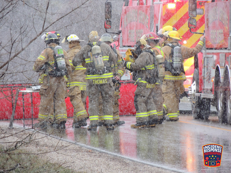 Firefighters extinguished a skid-steer fire inside a machine shed at W2132 County Road J in the Town of Sheboygan Falls, Wisconsin on Wednesday, March 23, 2016. Photo by Asher Heimermann/Incident Response.