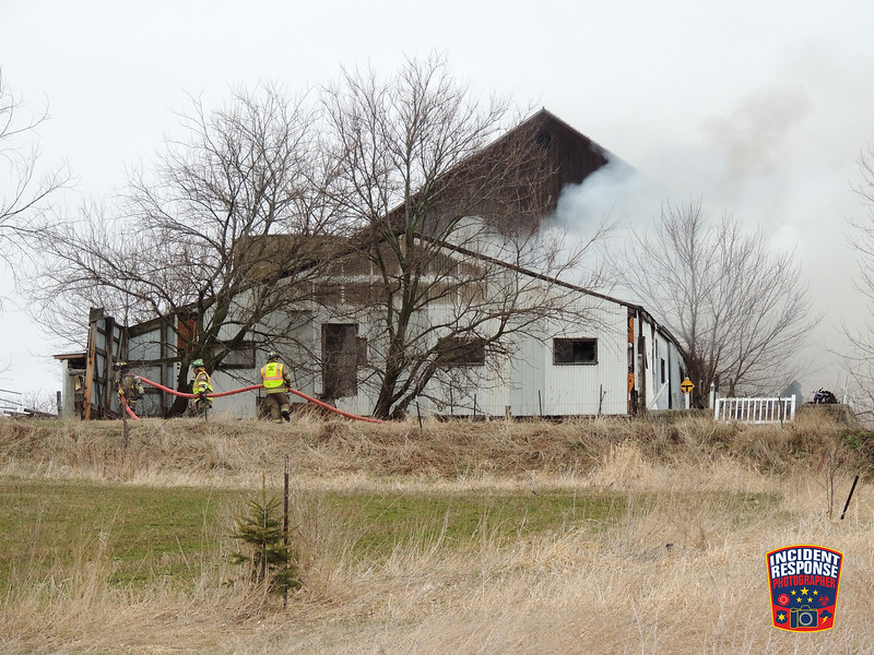 60 chickens died in a barn fire at W5672 County Road F in the Town of Lyndon, Wisconsin on Thursday, March 31, 2016. Photo by Asher Heimermann/Incident Response.