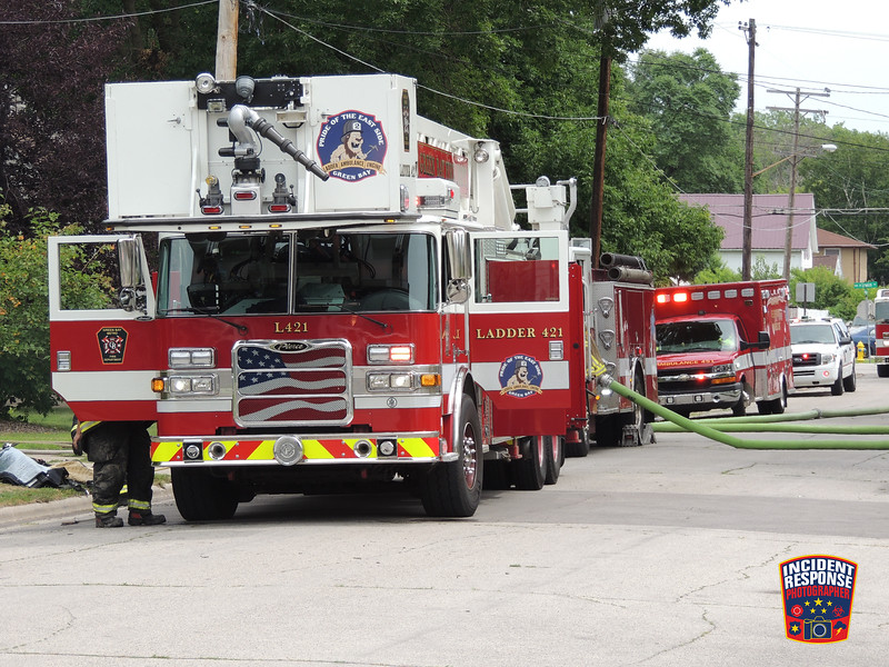 An electrical fire in a dining room caused an estimated $25,000 in damage at 1249 Vanderbraak Street in Green Bay, Wisconsin on Saturday, July 23, 2016. Photo by Asher Heimermann/Incident Response.