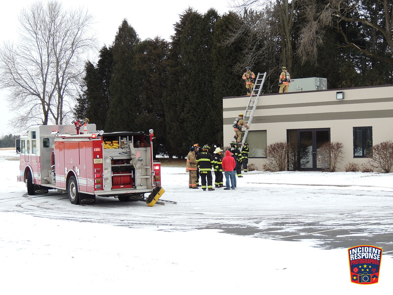 Firefighters from the City of Sheboygan and Town of Sheboygan fire departments responded to a HVAC malfunction incident at a vacant building on Superior Avenue on Thursday, December 28, 2017. Photo by Asher Heimermann/Incident Response.