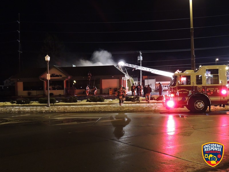The Sheboygan Fire Department responded to a fire at Arabella's Restaurant on Thursday, February 15, 2018. Photo by Asher Heimermann/Incident Response.