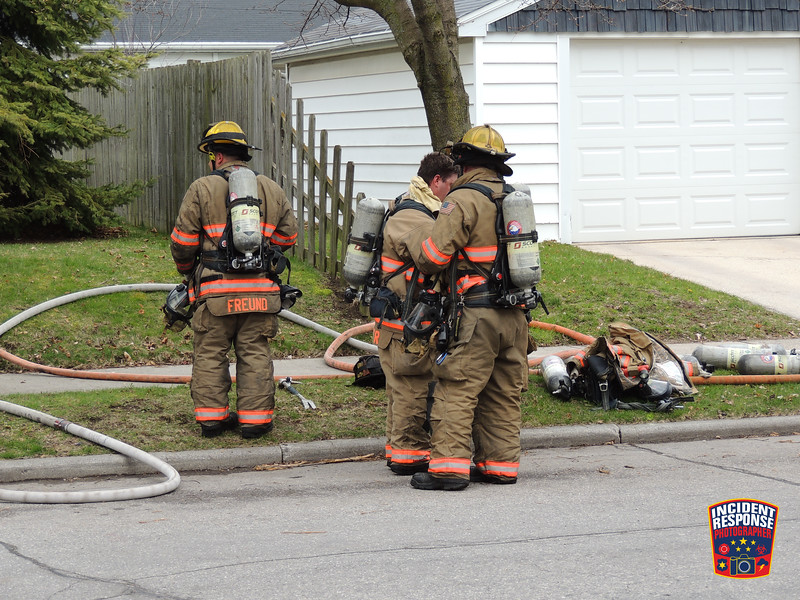 A person was killed in a house fire in the 2300 block of South 9th Street in Sheboygan, Wisconsin on Tuesday, April 28, 2020. Photo by Asher Heimermann/Incident Response.