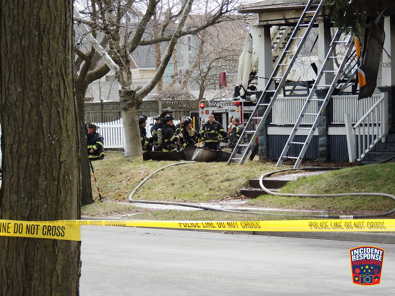 A woman died in a house fire at 2747 South Superior Street in Milwaukee, Wisconsin on Saturday, April 4, 2020. Photo by Asher Heimermann/Incident Response.