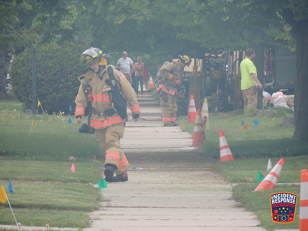 Natural gas line struck on May 27, 2016