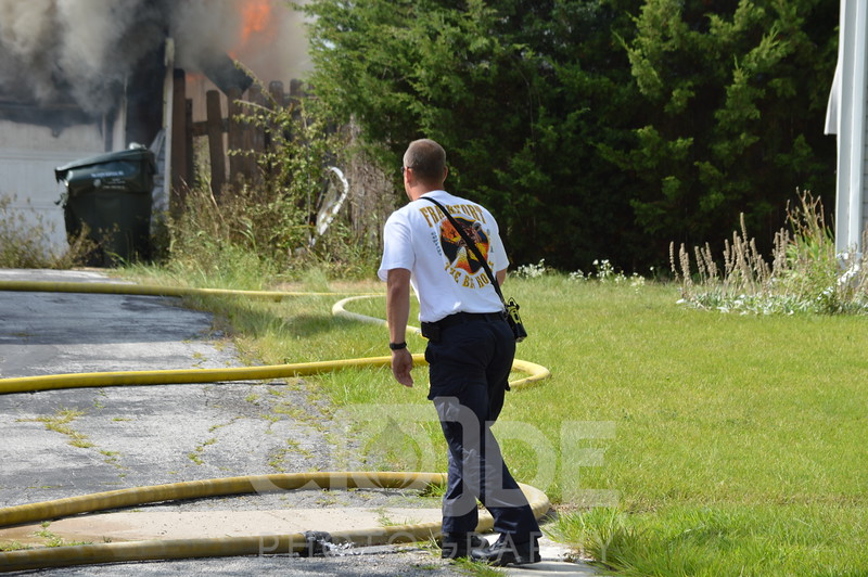 Mokena and Frankfort Fire Protection Districts along with Tinley Park Fire Department on scene of a fully involved garage fire.