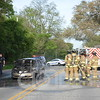 Western Springs Fire Department on scene with a vehicle fire.