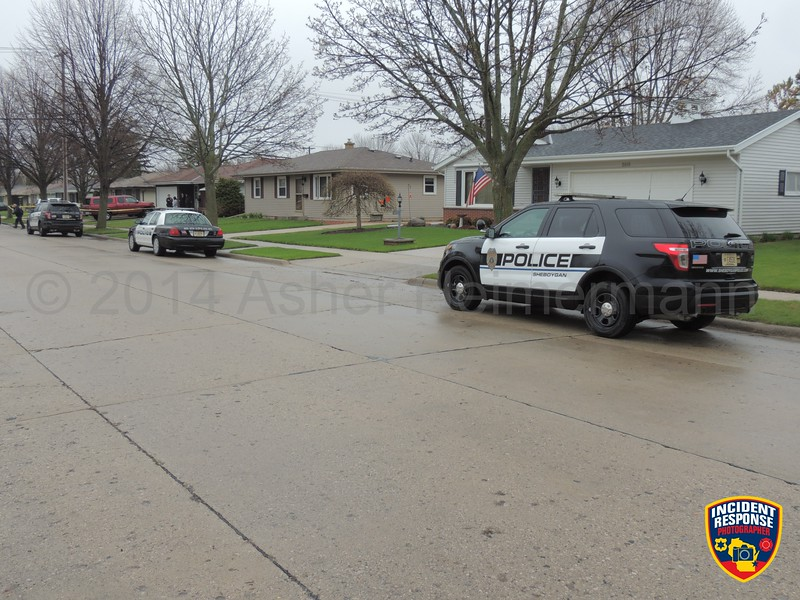 Sheboygan Police investigated a death in the 2700 block of South 19th Street in Sheboygan, Wisconsin on Friday, May 9, 2014. Video by Asher Heimermann/Incident Response.
