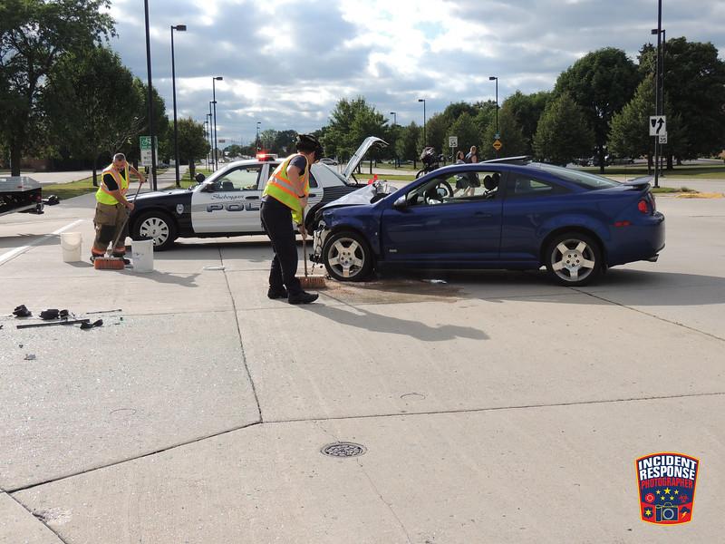 Two-vehicle crash at North 23rd Street & Kohler Memorial Drive in Sheboygan, Wisconsin on Monday, September 2, 2013. Photo by Asher Heimermann/Incident Response.