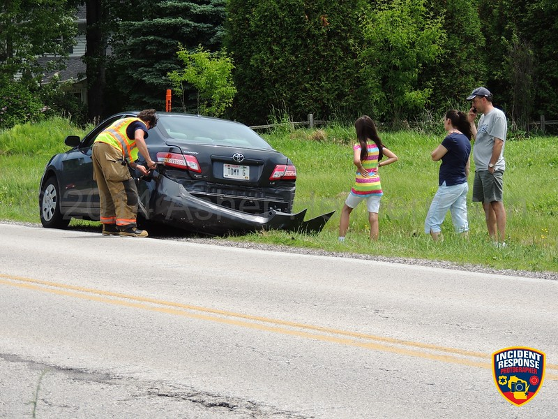 Two-vehicle accident at South 18th Street & Weeden Creek Road in Sheboygan, Wisconsin on Tuesday, June 17, 2014. Photo by Asher Heimermann/Incident Response.
