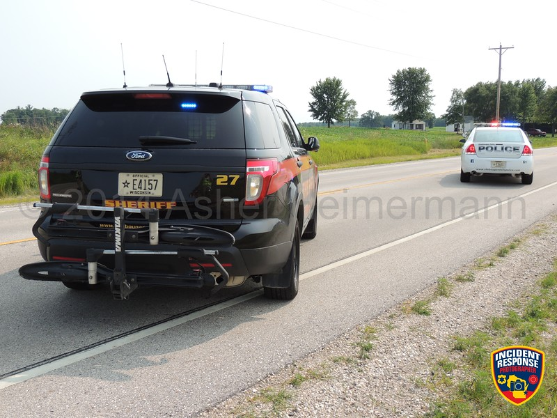 UTV vs. car accident in front of W3071 Highway 28 in Sheboygan Falls, Wisconsin on Saturday, July 19, 2014. Photo by Asher Heimermann/Incident Response.