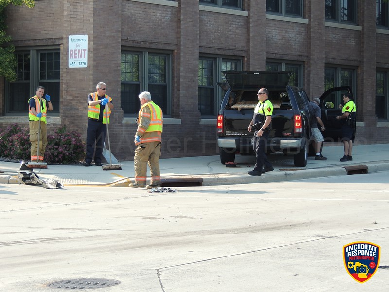 Two-vehicle accident at South 8th Street & Virginia Avenue in Sheboygan, Wisconsin on Monday, July 21, 2014. Photo by Asher Heimermann/Incident Response.
