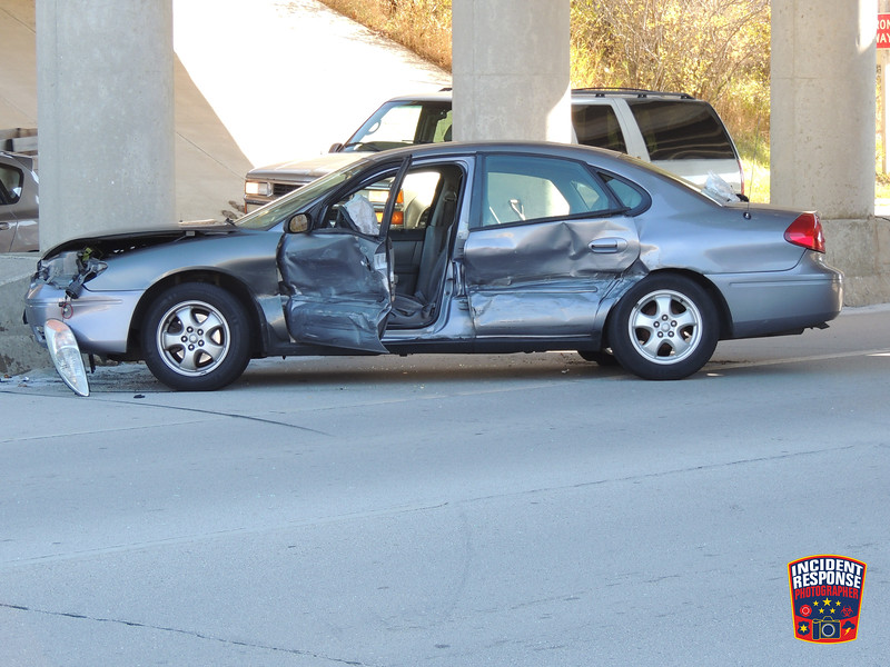 Two-vehicle crash with injuries on North Taylor Drive & Highway 23 in Sheboygan, Wisconsin on Wednesday, October 22, 2014. Photo by Asher Heimermann/Incident Response.