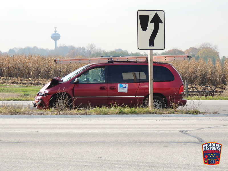 Two people were injured in a rollover crash at Highway 57 & County Road RR in the Town of Sherman, Wisconsin on Monday, October 27, 2014. Photo by Asher Heimermann/Incident Response.