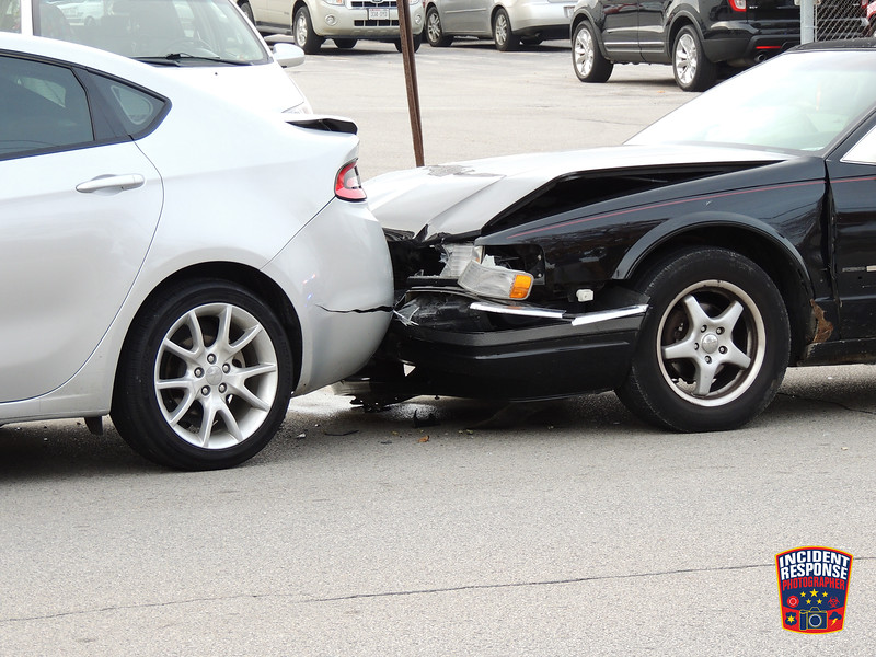 Two-vehicle crash in the 2200 block of Union Avenue in Sheboygan, Wisconsin on Thursday, October 30, 2014. Photo by Asher Heimermann/Incident Response.