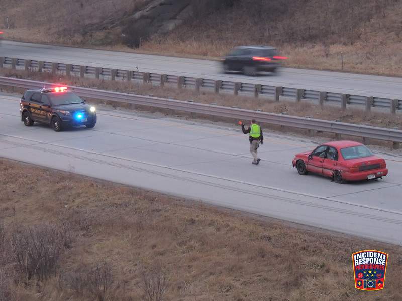 A man was injured in a single vehicle crash on Interstate 43 near County Road PP in Kohler, Wisconsin on Wednesday, December 24, 2014. Photo by Asher Heimermann/Incident Response.