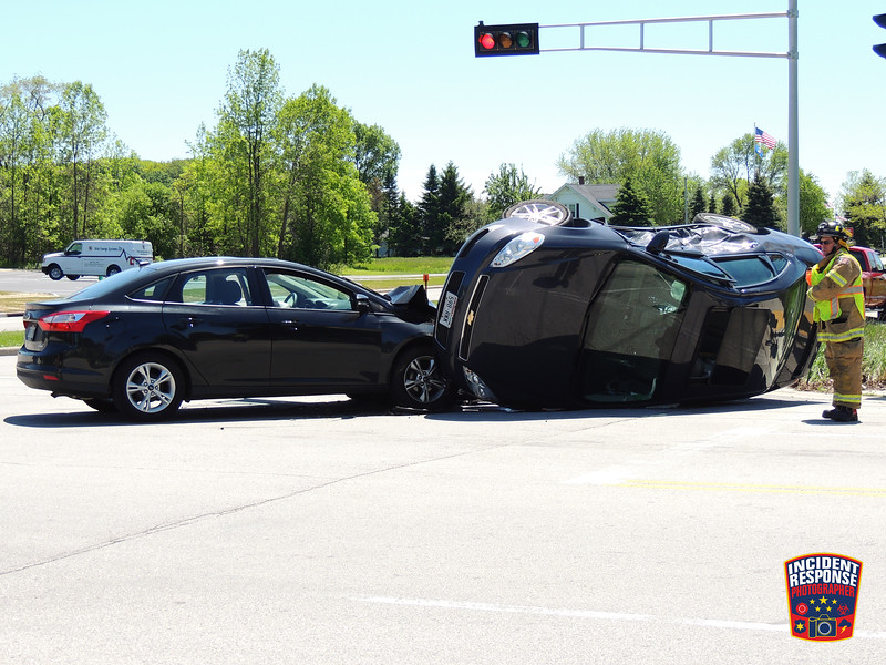 Two-vehicle rollover crash at County Road Y & Superior Avenue in the Town of Sheboygan, Wisconsin on Monday, June 1, 2015. Photo by Asher Heimermann/Incident Response.
