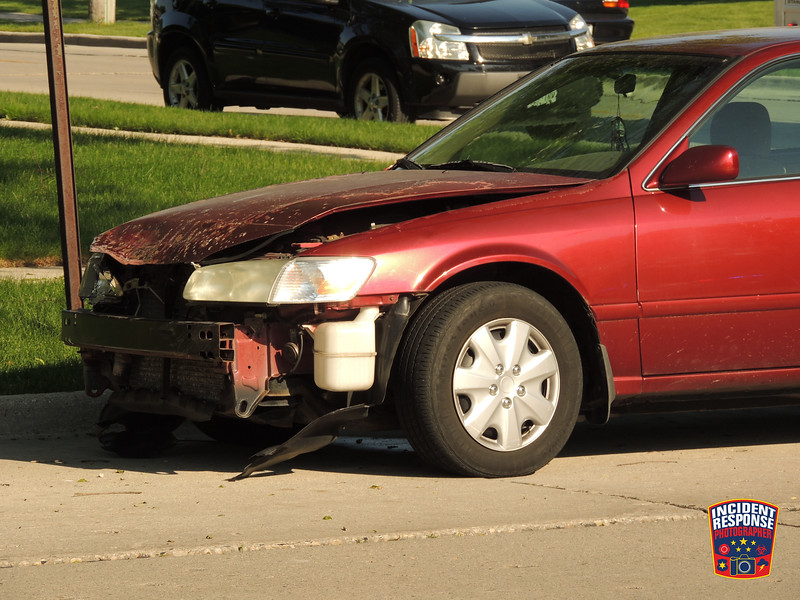 Three-vehicle crash at South 18th Street & Mead Avenue in Sheboygan, Wisconsin on Wednesday, June 10, 2015. Photo by Asher Heimermann/Incident Response.
