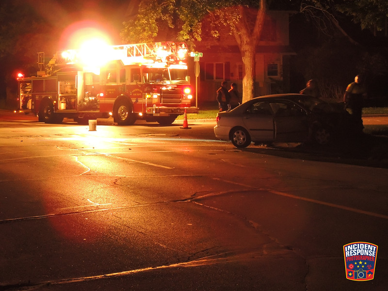 A driver crashed into two vehicles on North 9th Street with the first crash occurring in front of 1531 North 9th Street and the second crash at North 9th Street & Geele Avenue in Sheboygan, Wisconsin on Saturday, June 27, 2015. Photo by Asher Heimermann/Incident Response.
