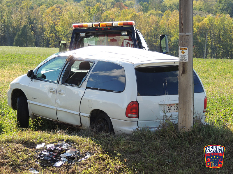 Two-vehicle rollover accident at Sumac Road & Blueberry Lane in the Town of Plymouth, Wisconsin on Thursday, October 1, 2015. Photo by Asher Heimermann/Incident Response.
