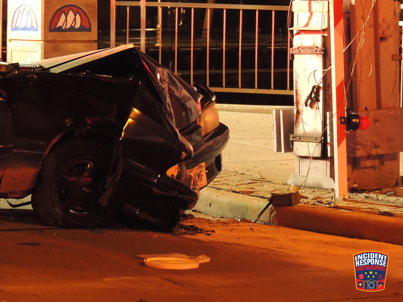 At least one person was injured after a car struck the South 8th Street Bridge in Sheboygan, Wisconsin on Saturday, October 17, 2015. Photo by Asher Heimermann/Incident Response.