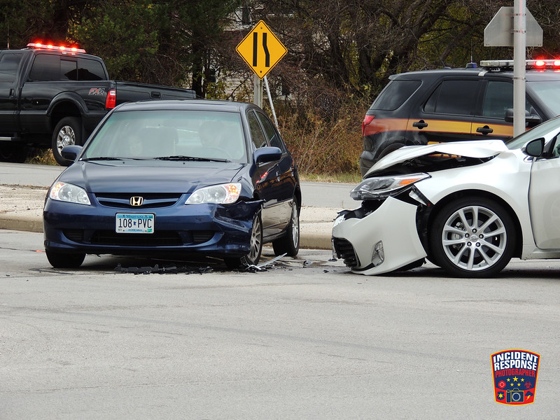 Three-vehicle injury crash at County Road Y & Superior Avenue in the Town of Sheboygan, Wisconsin on Wednesday, October 28, 2015. Photo by Asher Heimermann/Incident Response.