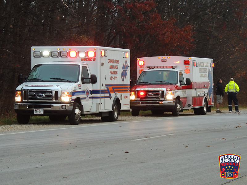 A pedestrian was struck and killed by a vehicle on Highway 57 & Vorpahl Road near Random Lake, Wisconsin on Wednesday, November 4, 2015. Photo by Asher Heimermann/Incident Response.