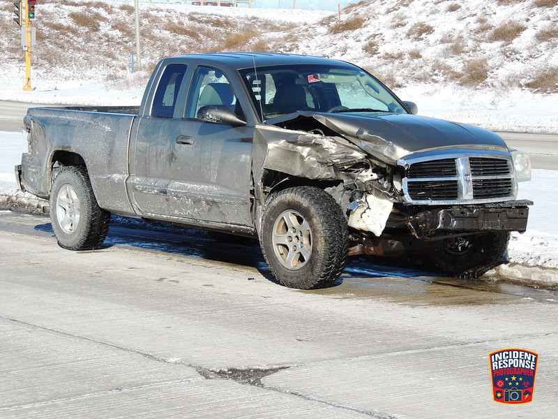 Two-vehicle crash with reported injuries on North Taylor Drive near Highway 23 in Sheboygan, Wisconsin on Wednesday, February 10, 2016. Photo by Asher Heimermann/Incident Response.