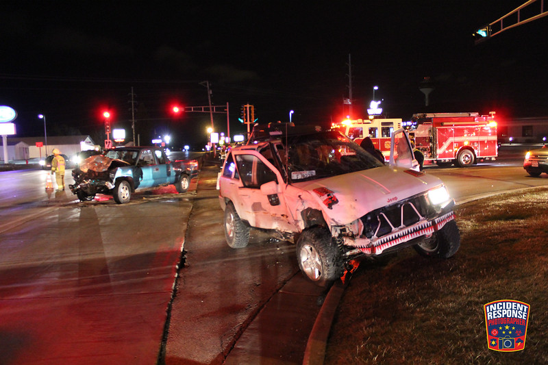 Two-vehicle crash with injuries at Highway 42 & County Road J in Sheboygan, Wisconsin on Wednesday, February 24, 2016. Photo by Asher Heimermann/Incident Response.