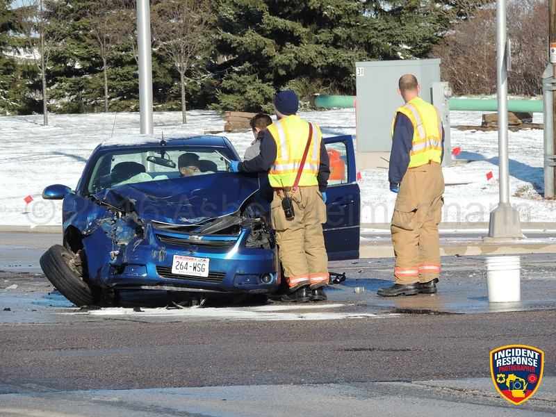 Two-vehicle accident at South Taylor Drive & Washington Avenue on Saturday, April 9, 2016. Photo by Asher Heimermann/Incident Response.